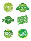 istock Vegan food and organic production logo 1226762873