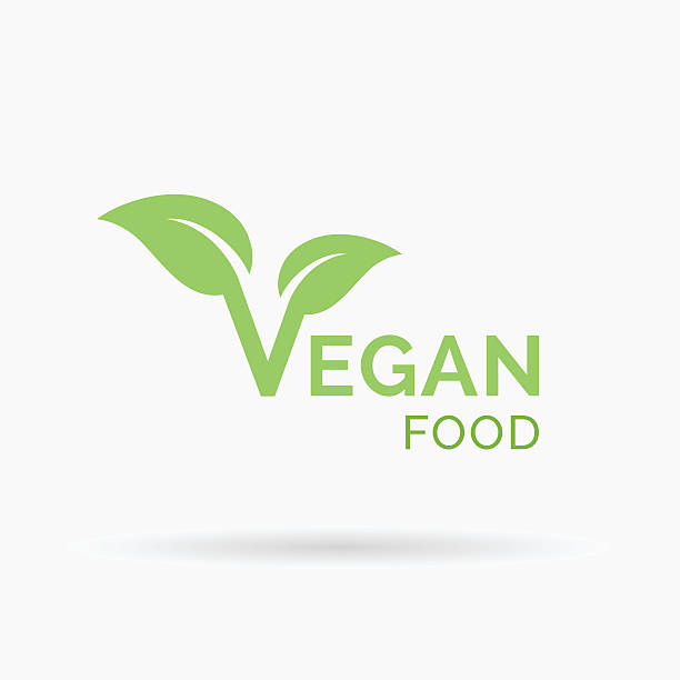 Veganer Essen Symbole-design. Vektor-illustration. – Vektorgrafik