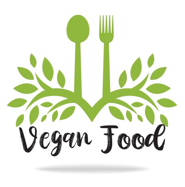 Veganes Lebensmittelzeichen – Vektorgrafik