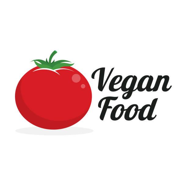 vegan food - tomato stock illustrations