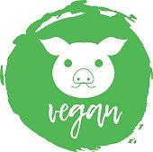 Vegan Free Label. Food intolerance symbols. Vector illustration.