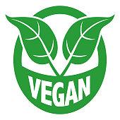 Vector Illustration of a beautiful Vegan Green Nature Clip Art Mark Brand