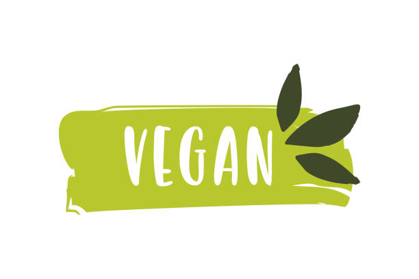 vegan logo. raw, healthy food badge, tag for cafe, restaurants and packaging - backgrounds symbols stock illustrations