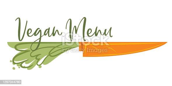 istock Vegan Menu Design Element 1297044760