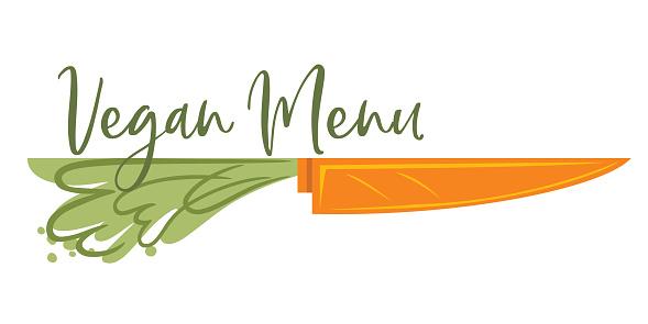 Vegan Menu Design Element