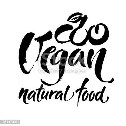 Aliments Naturels De Végétalien Ecriture Manuscrite Pour