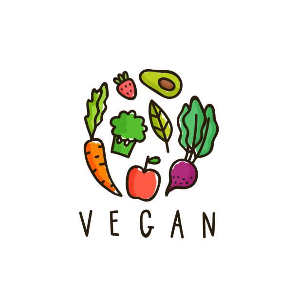Vegan sign isolated on white. vector art illustration