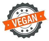 istock Vegan - Stamp, Imprint, Banner, Label, Ribbon Template. Vector Stock Illustration 1303886311