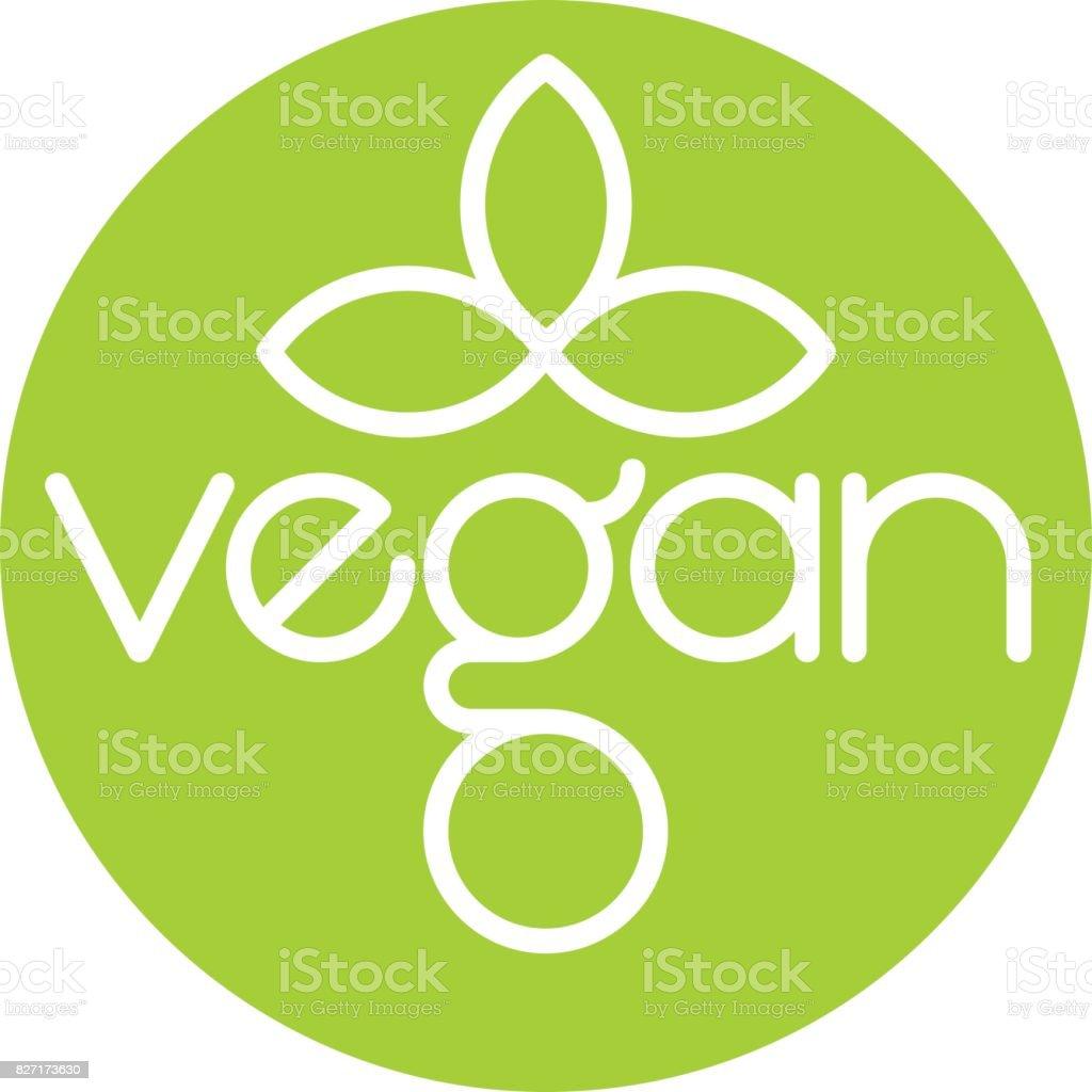 Diseño vegano Vector icono - ilustración de arte vectorial