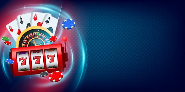Vegas Casino games background. Concept Vegas games banner illustration