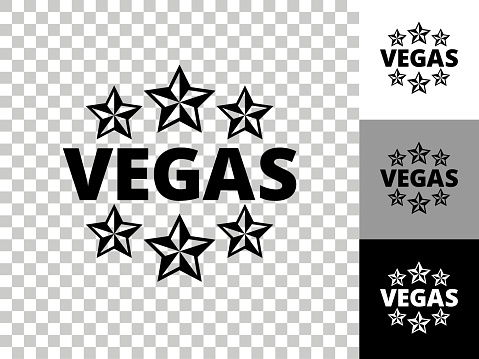 Vegas Icon on Checkerboard Transparent Background