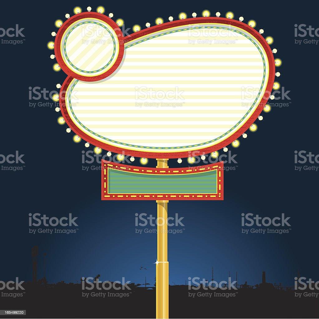 Vegas Style Blank Sign royalty-free stock vector art