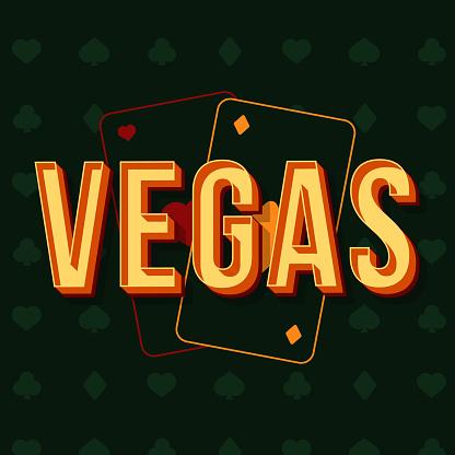 Vegas vintage 3d vector lettering