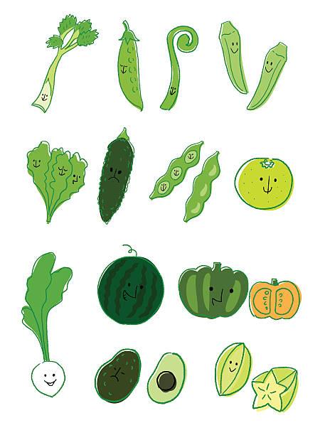 野菜と果物のグリーン - 枝豆点のイラスト素材/クリップアート素材/マンガ素材/アイコン素材