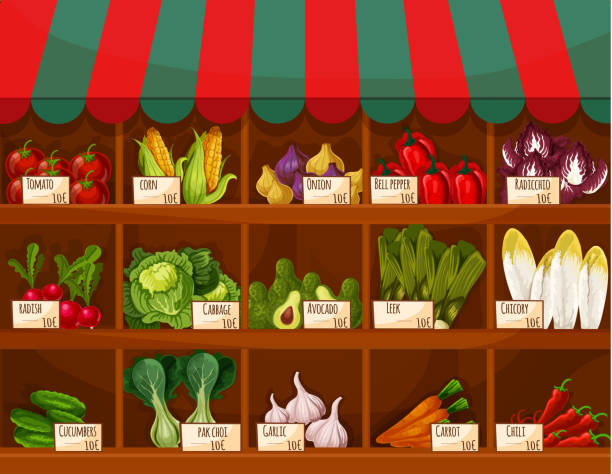 Best Greengrocer S Shop Illustrations Royalty Free Vector