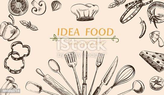 l gumes et des ustensiles de cuisine de dessin couvrir web cliparts vectoriels et plus d. Black Bedroom Furniture Sets. Home Design Ideas