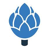 istock Vegetable, Artichoke,icon, Vector graphics 1268404538