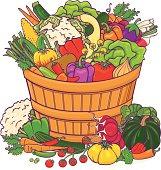 Vegetable basket bounty