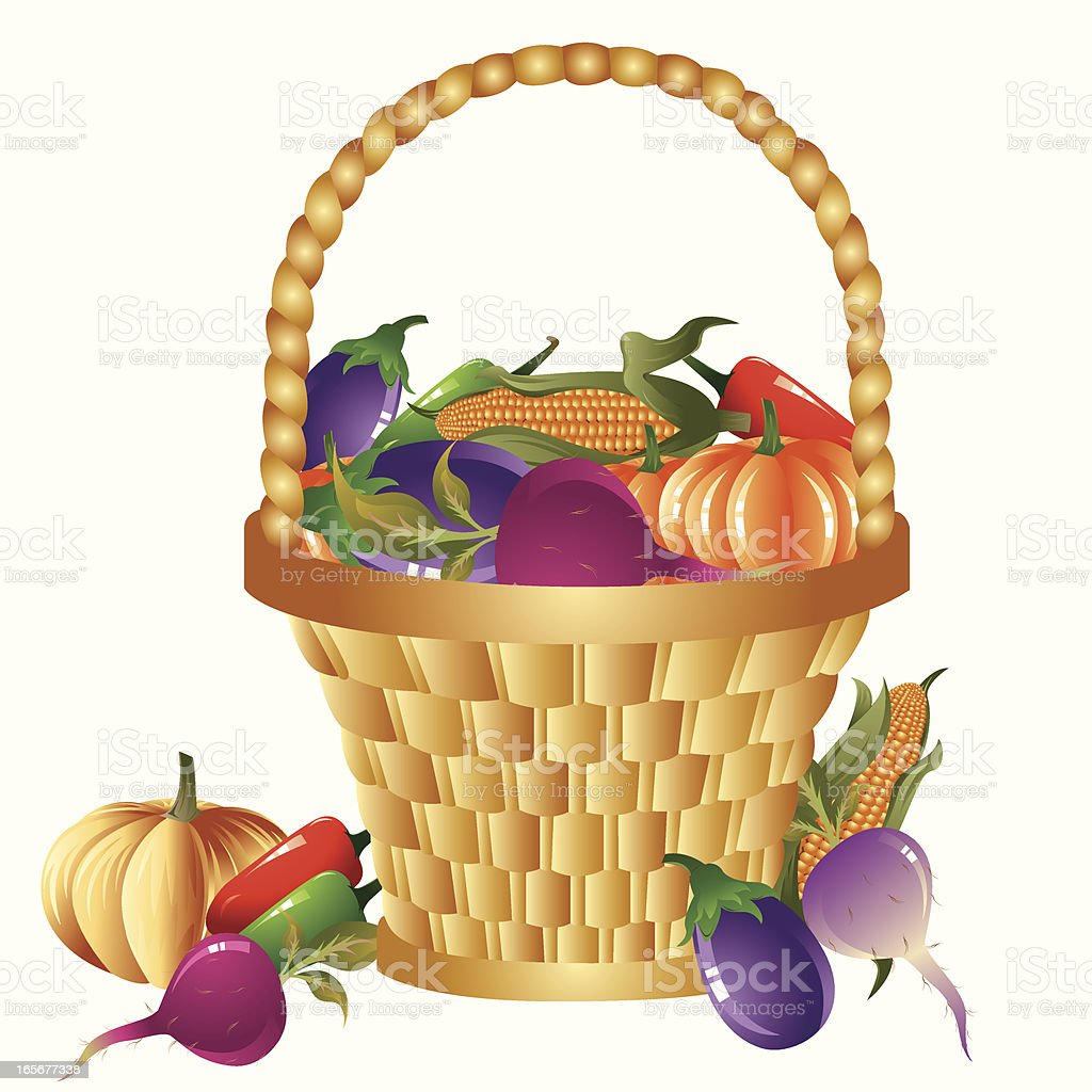 Vegetable Basket royalty-free stock vector art