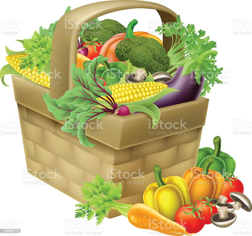 Vegetable Basket Royalty Free Vegetable Basket Stock Vector Art U0026amp; More  Images Of Agriculture