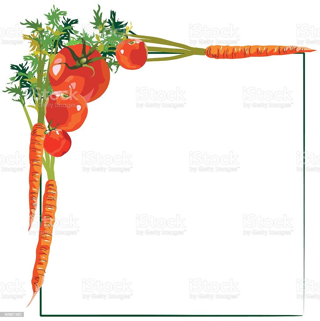 Vegetable Border Illustration Stock Illustration ...