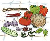 Vegetable colour illustration