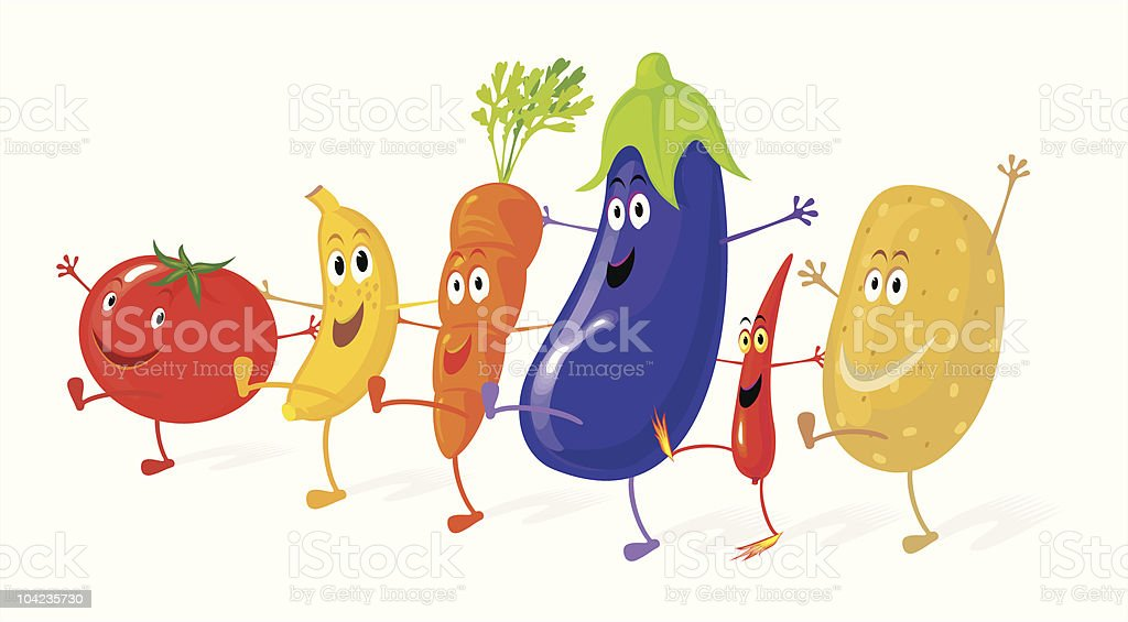 Vegetable Dancers royalty-free vegetable dancers stock vector art & more images of banana