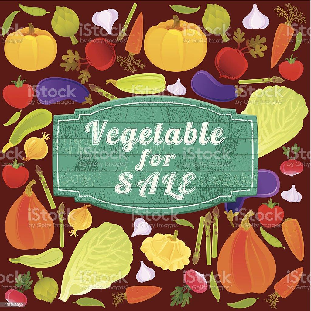 Vegetable for Sale Banner royalty-free stock vector art