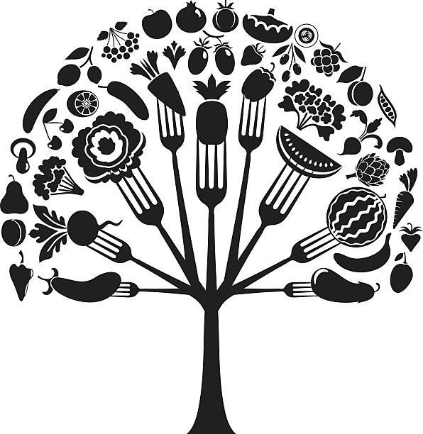 Légumes embranchement tree - Illustration vectorielle