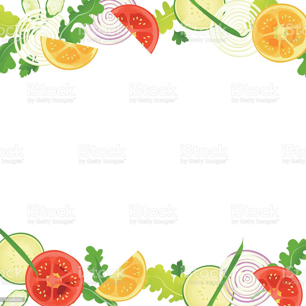Vegetable Frame Stock Vector Art & More Images of Backgrounds ...