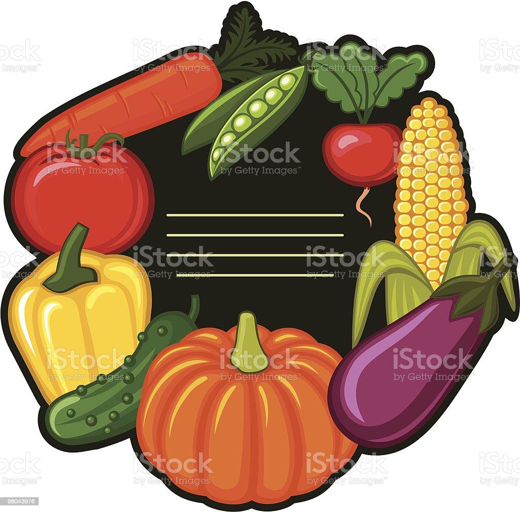 Vegetable frame royalty-free vegetable frame stock vector art & more images of backgrounds