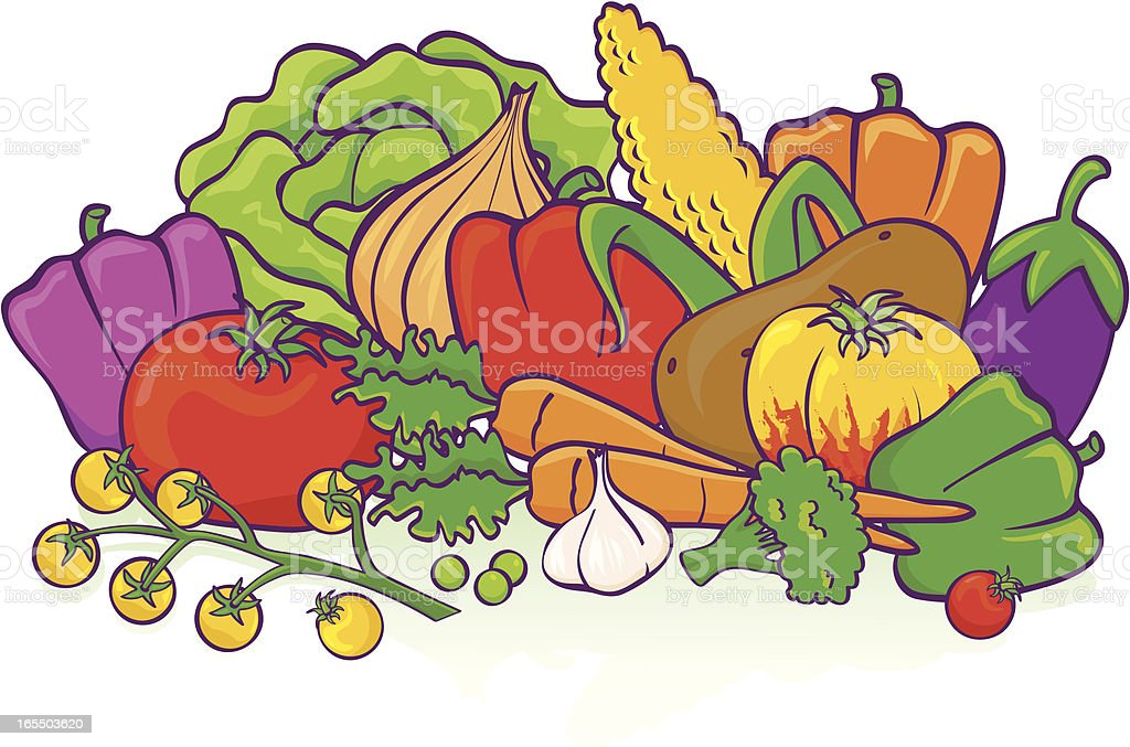 Vegetable Group royalty-free vegetable group stock vector art & more images of beauty