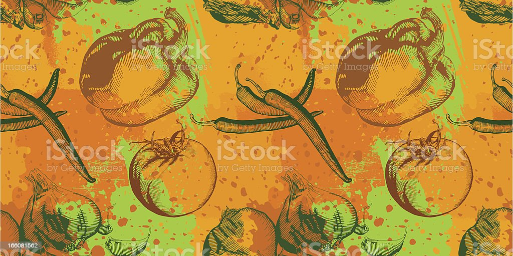 Vegetable Grunge Design vector art illustration