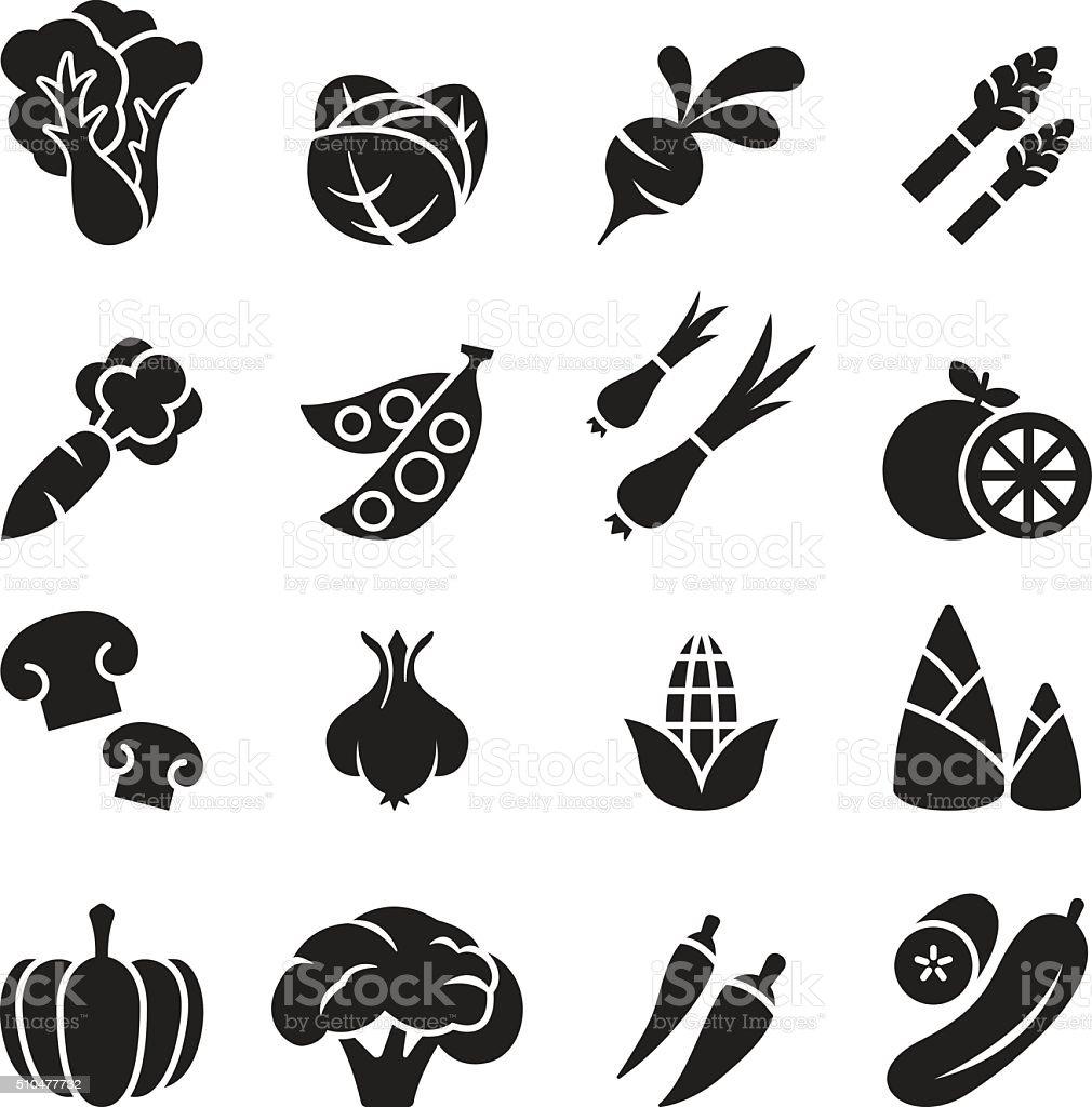 Vegetable icon set 2 vector art illustration