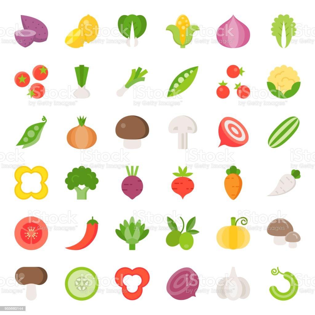 野菜アイコン セット 22フラット デザイン アイコンのベクターアート