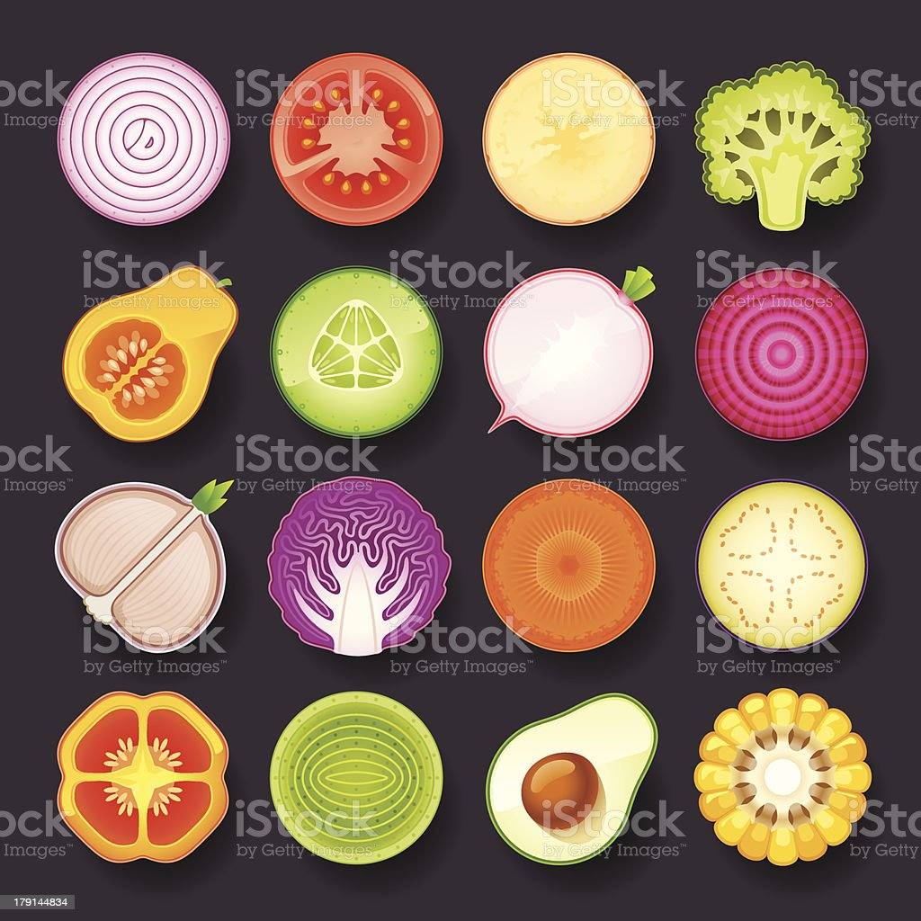 vegetable icon set royalty-free vegetable icon set stock vector art & more images of avocado