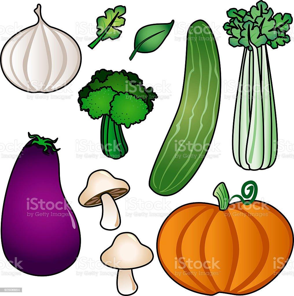Vegetable Icon Set royalty-free stock vector art