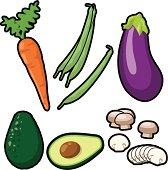Vegetable Icons (vector)