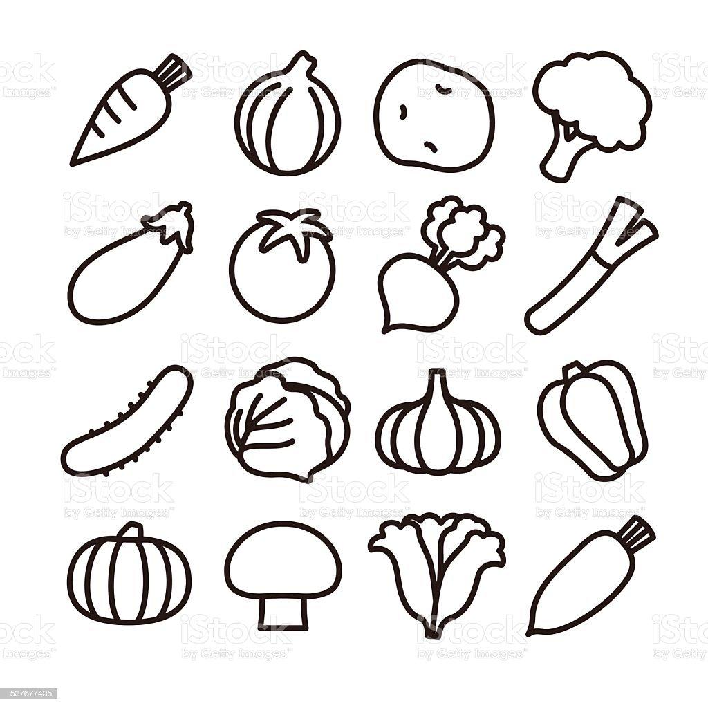 야채 아이콘 0명에 대한 스톡 벡터 아트 및 기타 이미지 | iStock