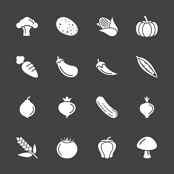 ilustrações de stock, clip art, desenhos animados e ícones de vegetais ícones-série branca/eps10 - red bell pepper isolated