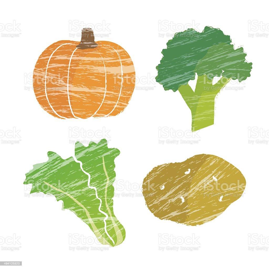 Vegetable illustration vector art illustration