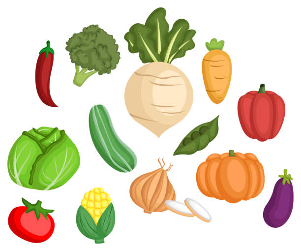 野菜のイメージ セット - 枝豆点のイラスト素材/クリップアート素材/マンガ素材/アイコン素材