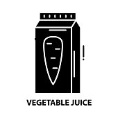 istock vegetable juice icon, black vector sign with editable strokes, concept illustration 1290644068