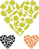 Vegetable love icons