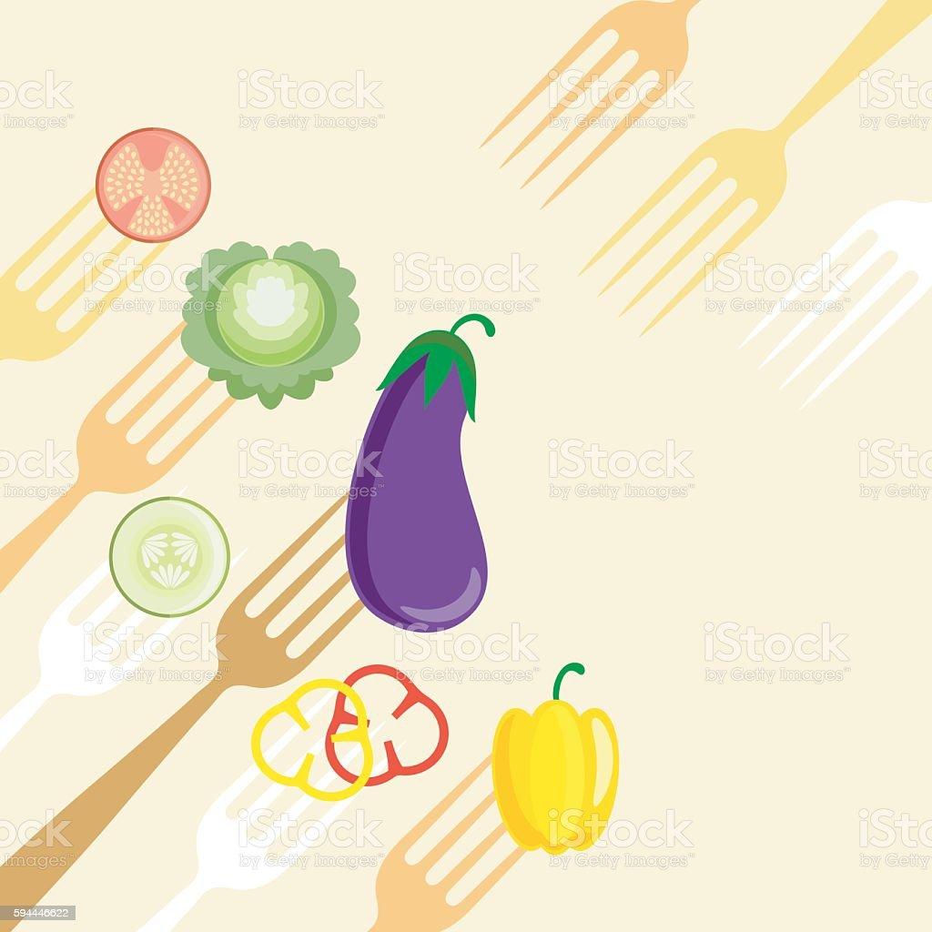 vegetable menu vector art illustration