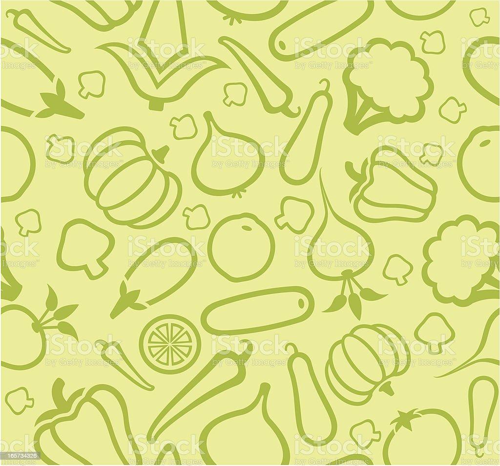 Vegetable pattern royalty-free stock vector art