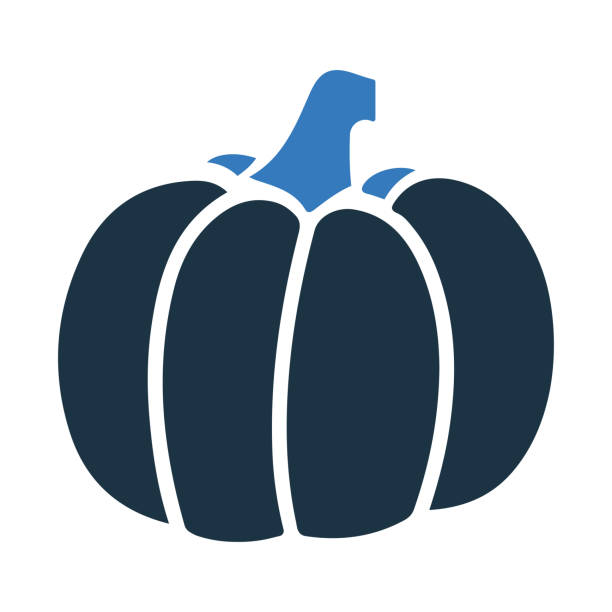 Vegetable, pumpkin icon. Glyph vector isolated on a white background Simple vector illustration for graphic and web design or commercial purposes. autumn symbols stock illustrations