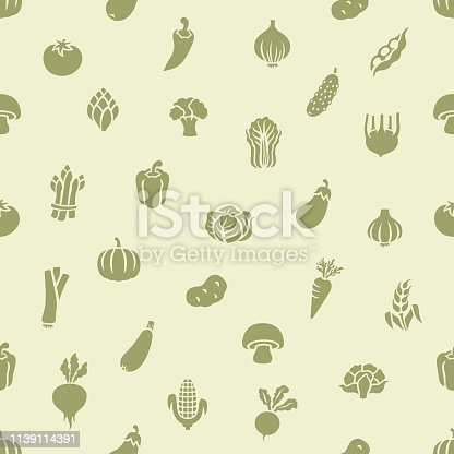 istock Vegetable seamless pattern 1139114391