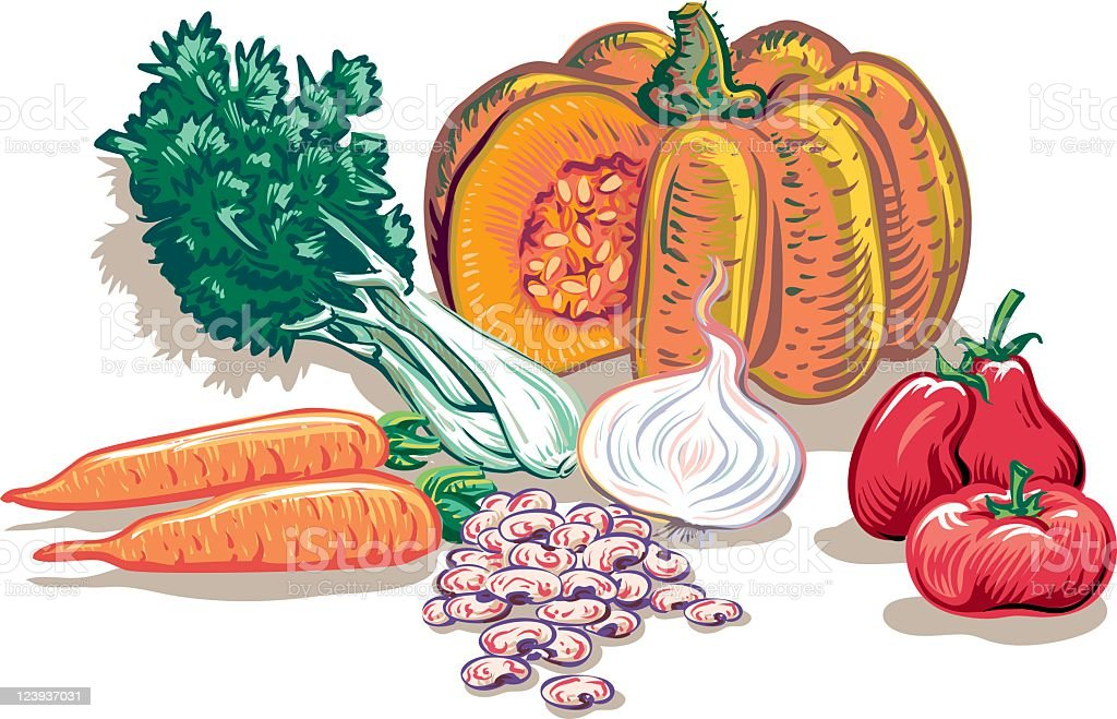 Vegetable soup royalty-free stock vector art