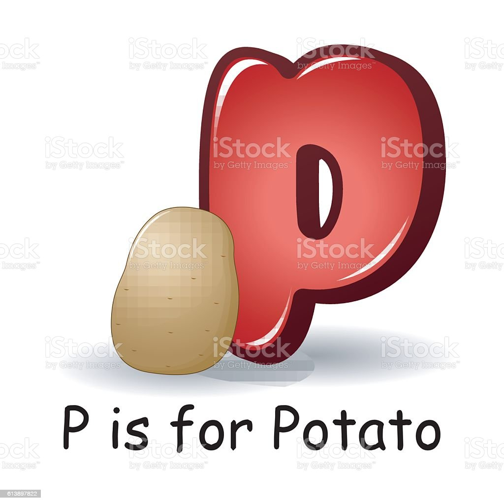 Vegetables Alphabet P Is For Potatoes Royalty Free